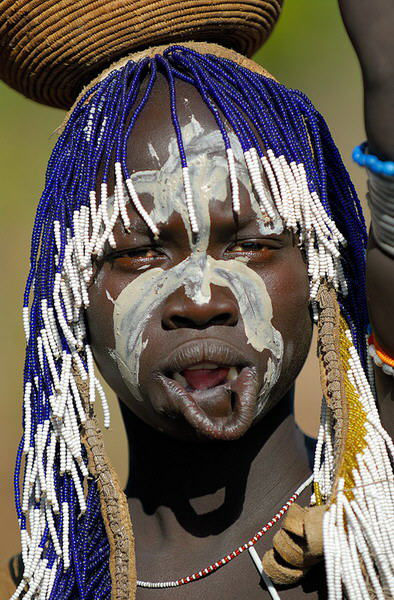 Женщины племени Мурси (Эфиопия)