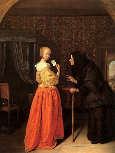 "Ян Стен, ""Вирсавия получает письмо от Давида"", 1659 г."
