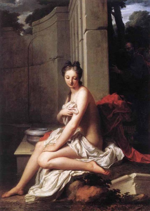 Сусанна в купальне. Жан-Батист Сантер, 1704.