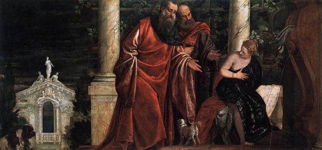 Сусанна и старцы. Паоло Веронезе, 1585 – 1588