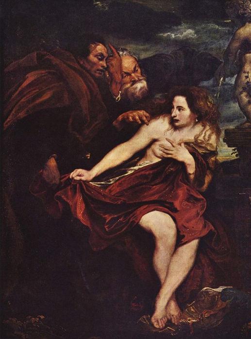 Сусанна и старцы. Антонис ван Дейк, 1622-23