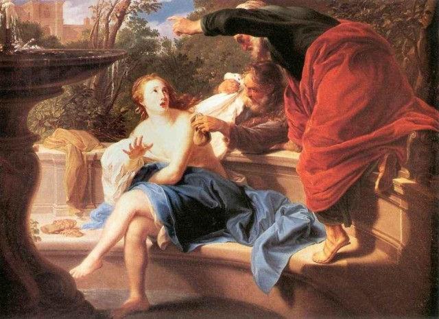 Сусанна и старцы. Батони Помпео (1708 - 1787) год создания неизвестен.