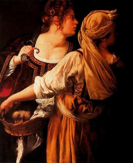 Артемизия Джентилески Юдифь и служанка 1613 г.