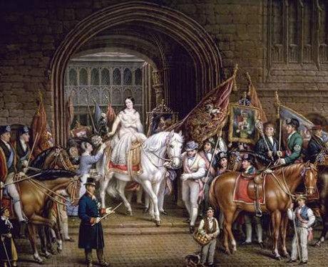 Процессия в честь леди Годивы в Ковентри. Середина XIX в.