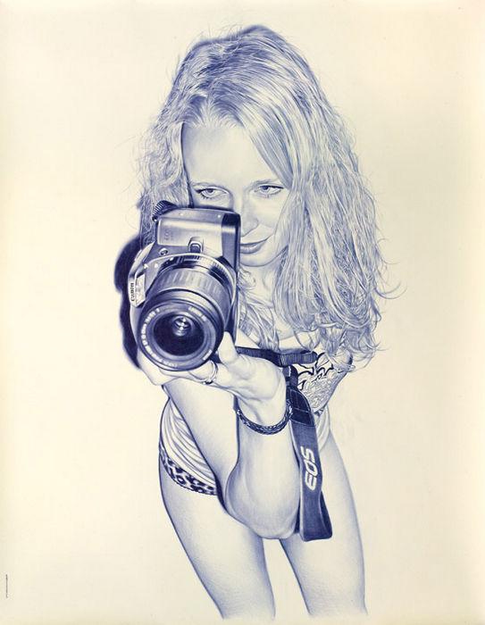 """""""Фотографии"""" шариковой ручкой от Juan Francisco Casas"""