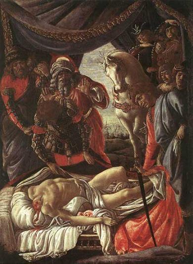 Сандро Боттичелли Обнаружение тела Олоферна 1472 г.