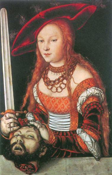 Лукас Кранах Старший Юдифь с головой Олоферна 1530 г.