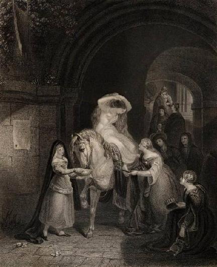 Леди Годива (старинная гравюра)
