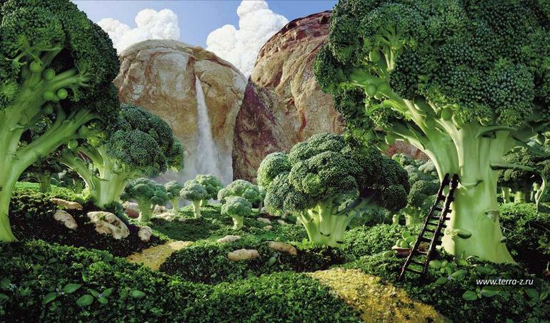Съедобные ландшафты Карла Уорнера