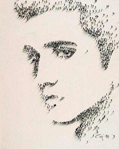 Портреты людей, состоящие из людей от Крейга Алана (Craig Alan)