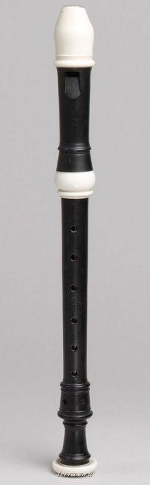 Soprano Recorder, ca. 1700. Amsterdam, The Netherlands. Ebony and ivory