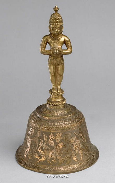 Ghanti, second half of 19th century. North India. Brass