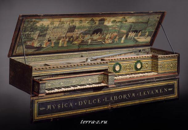 Double Virginal, 1581. Antwerp, Flanders. Wood and various other materials