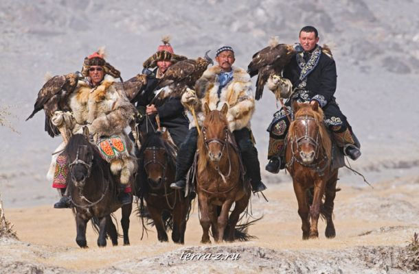 Hunters with Golden Eagles, Bayan-Ölgii, Mongolia