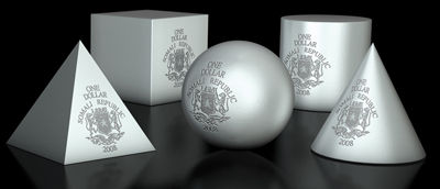 Somalia - 2008 - 5x 1 Dollar - Geometrics CONE, PYRAMID, BALL, CYLINDER, CUBE