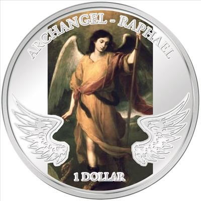 Solomon Islands - 2010 - 1 Dollar - Guardian Angels ARCHANGLE RAFFAEL
