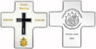 Liberia - 2005 - 10 Dollars - Pope JPII Karol Woityla