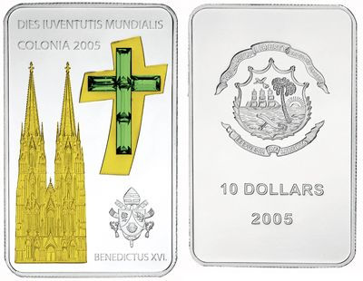 Liberia - 2005 - 10 Dollars - Benedictus World Youth Day Cologne