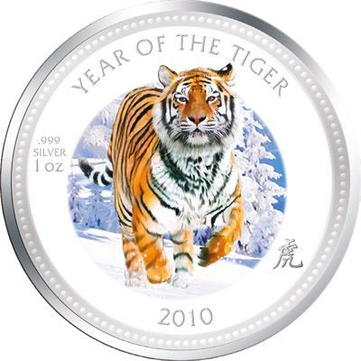 Pitcairn Islands - 2010 - 2 Dollars - Lunar Year of the Tiger