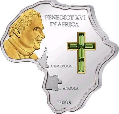 Cook Islands - 2009 - 5 Dollars - Pope Visit to Africa