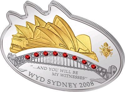 Cook Islands - 2008 - 5 Dollars - Sydney World Youth Day