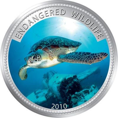 Palau - 2009 - 1 Dollar - Green turtle