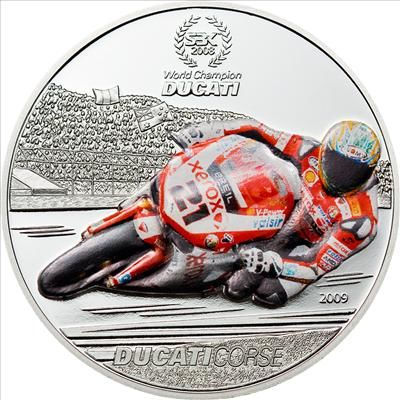 Palau - 2009 - 1 Dollar - Ducati Troy Bayliss