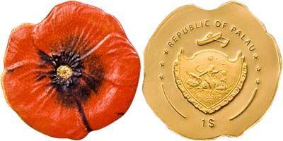 Palau - 2008 - 1 Dollar - Red Corn Poppy