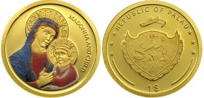 Palau - 2007 - 1 Dollar - Madonna and Child COLOR