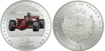 Palau - 2007 - 1 Dollar - 60 Years Ferrari