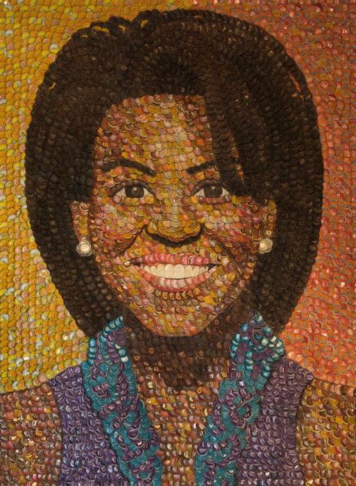 Картины из бутылочных крышек от Молли Би Райт (Molly B. Right)
