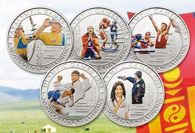 Mongolia - 2010 - 5x 500 Tugrik - Mongolian Olympic Champions 5 coin set