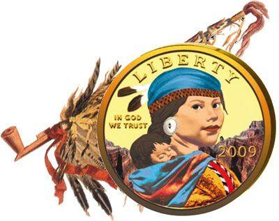 USA - 2009-2000 - 10x 1 Dollar - Sacagawea coloured SET