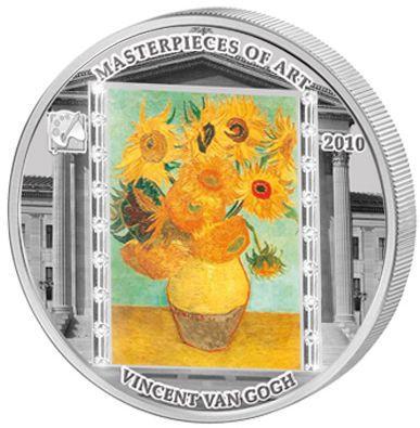 Cook Islands - 2010 - 20 Dollars - Vincent van Gogh Sunflowers