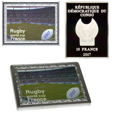 Congo - 2007 - 10 Francs - Rugby Worldchampionship