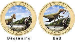 Canada - 2010 - 50 Cents – Sinosauropteryx