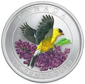 Canada - 2010 - 25 Cent – Goldfinch
