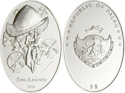 Palau - 2008 - 5 Dollars - Illusion Don Quixote