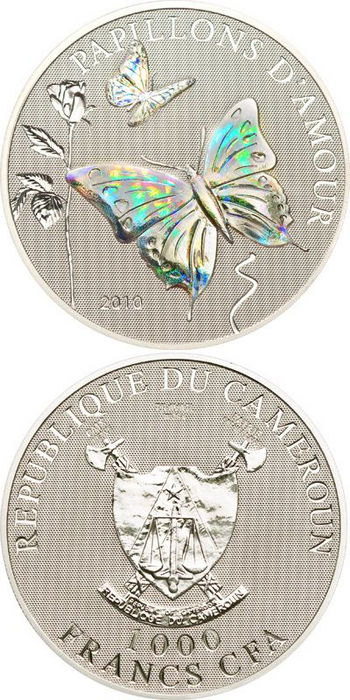 Cameroon - 2010 - 1000 Francs - Papillons d'Amour Butterfly of Love