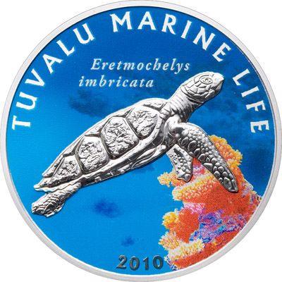 Tuvalu - 2010 - 1 Dollar – Turtle