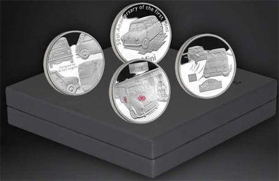 Alderney - 2009 - 4x 5 Pounds - 50th Anniversary of the Mini Silver Collection