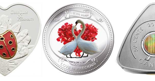 необычные цветные монеты