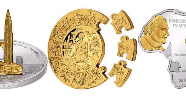 Современные монеты необычной формы