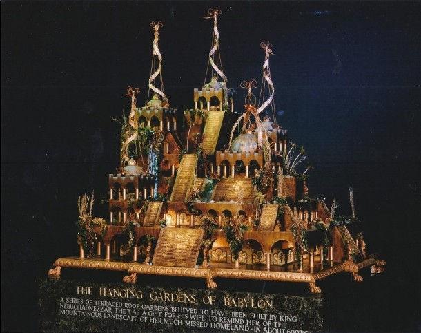 Висячие сады Семирамиды, современная реконструкция, модель