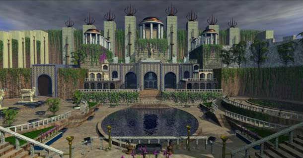 Семь чудес света - висячие сады Семирамиды (Вавилон)
