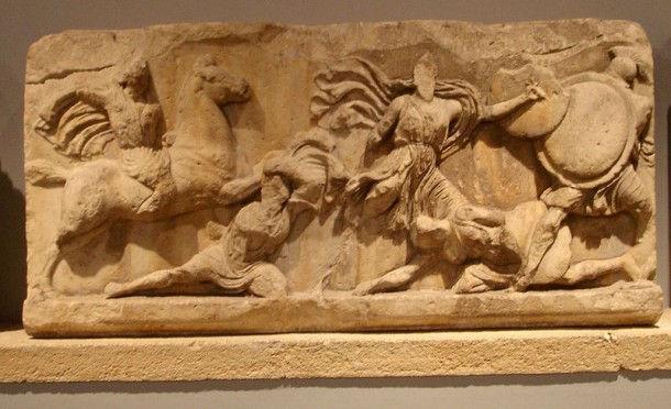 Фриз мавзолея в Галикарнасе