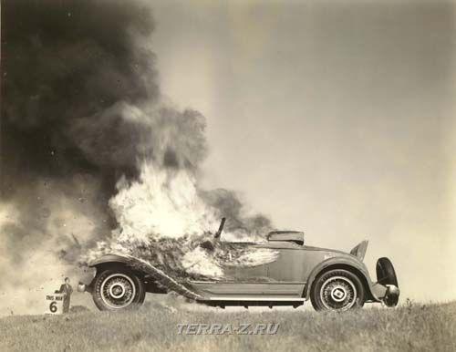 Studebaker President, сожжение