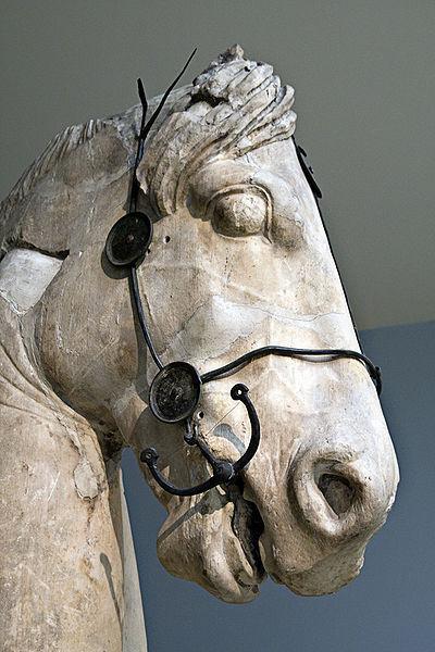Фрагмент статуи коня с верхней части мавзолея