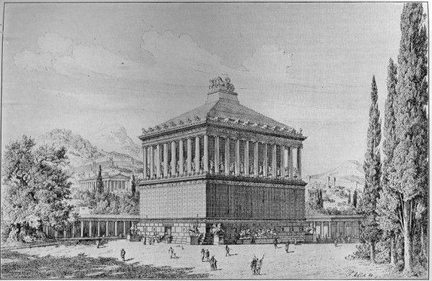 Реконструкция мавзолея в Галикарнасе, автор Friedrich Adler