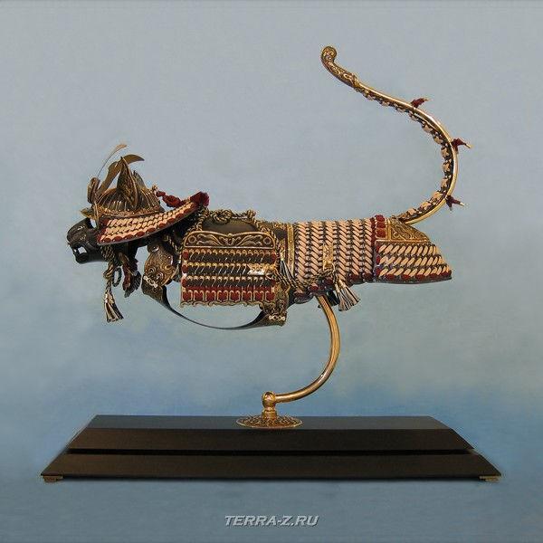 Сиамский кот-самурай